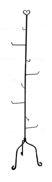 Black Wrought Rod Iron Basket Store Show Display Stand Tree 5ft+ Tall USA Made