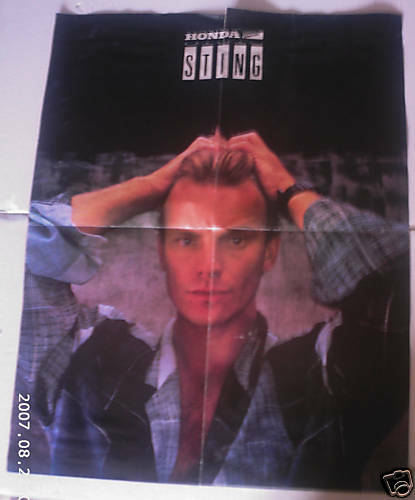 Sting from The Police Large Poster $5.99