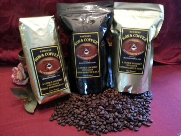 100% Kona Coffee Whole Bean 5 Pounds - Fresh Roasted