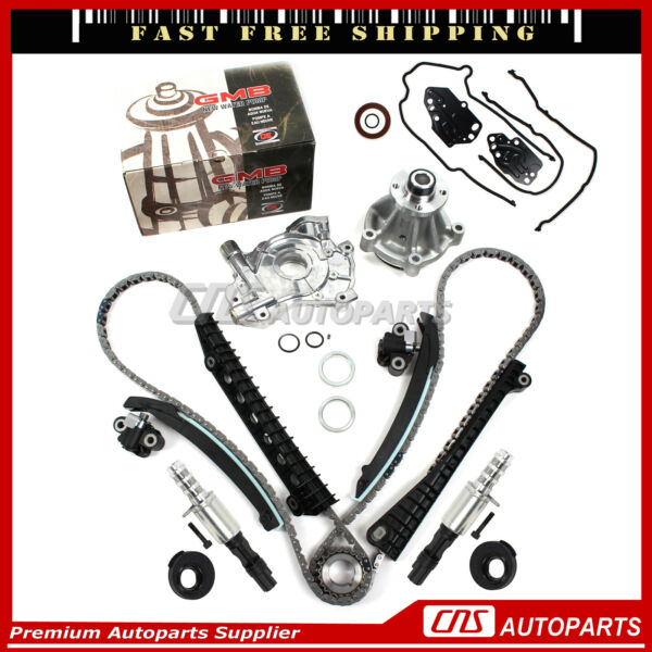 04-08 Ford Lincoln 5.4L 3V Timing Chain Oil Pump Kit/Cam Phasers/Gasket/Solenoid