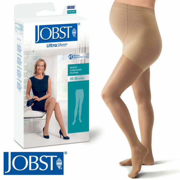 Jobst Womens UltraSheer Maternity Compression Pantyhose 20 30 mmhg Supports Hose $125.92