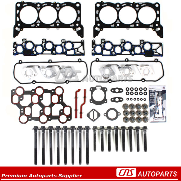 Head Gasket Set Bolts Fits 01 15 1998 04 Ford Mustang F150 3.8 4.2 OHV VIN 2 4 6