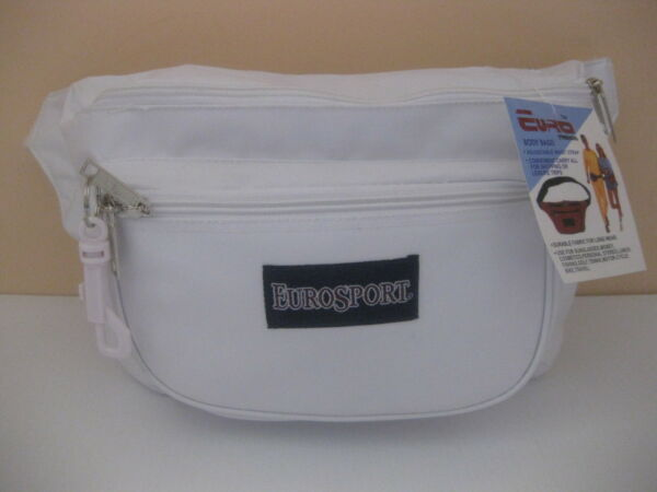 Brand New EURO White Waist Belt Bag Pouch Fanny Packs