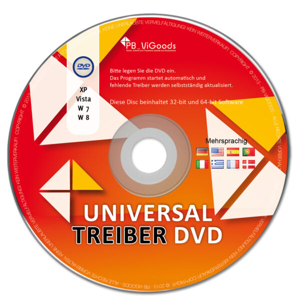 NEU: Universal Windows Treiber CD/DVD für Notebook & PC - Windows 7 / 8 / 10 /XP