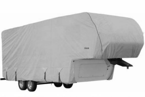 Goldline Premium RV Trailer 5th Wheel Cover Fits 42 43 44 Foot Color Grey