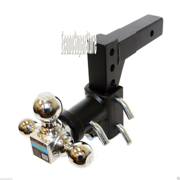 Tri Ball Swivel 13quot; Adjustable Trailer Tow Hitch Mount 2quot; Receivers Solid Shank $92.99