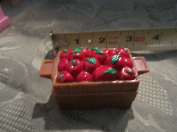 Fisher Price Little People Crate of apples fruit groceries food truck stable red