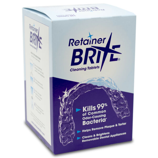 Retainer Brite Cleaning Tablets 96 Tablets - 3 Months Supply  Free Shipping