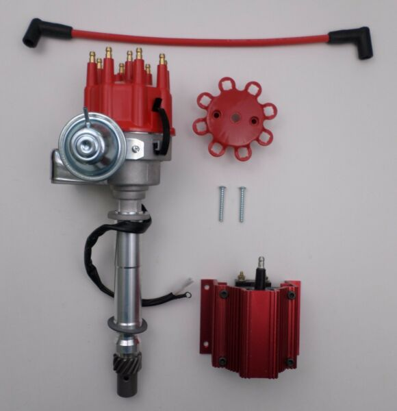 CHEVY SMALL BIG BLOCK Ready-to-Run RED Small Cap HEI Distributor 50k volt Coil