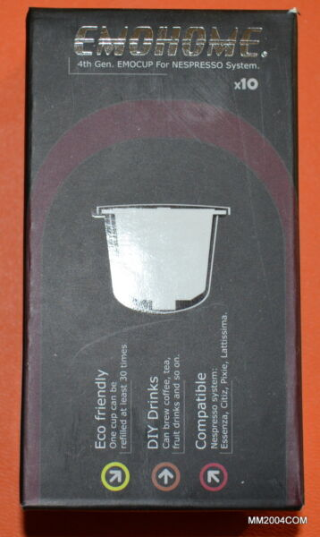 New 4th Generation 10 X Nespresso Refillable Capsule set REUSABLE SAVE $$$$$$$