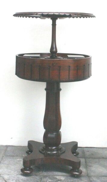 1820's Regency Rosewood English Teapoy With Spring Assisted Mechanism RARE