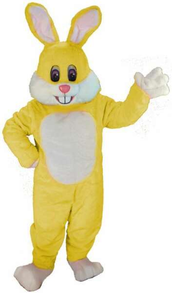 Yellow Toon Rabbit Professional Quality Lightweight Mascot Costume