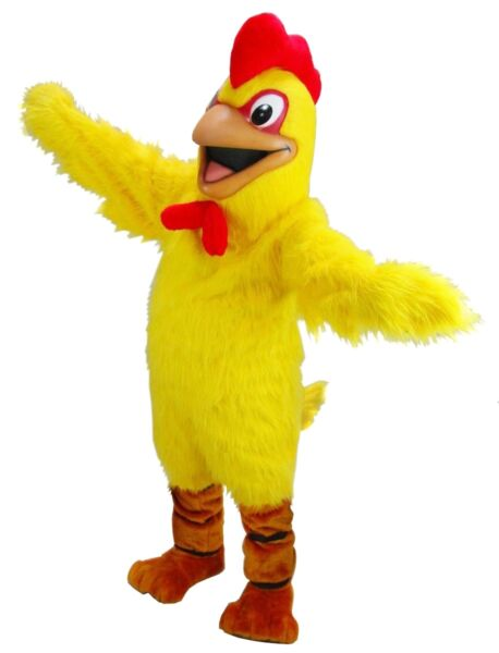 Yellow Chicken Professional Quality Mascot Costume Adult Size