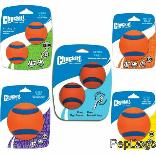 Chuckit! ULTRA BALL Durable Rubber Fetch Floating Dog Toy Fits Launcher  $5.95