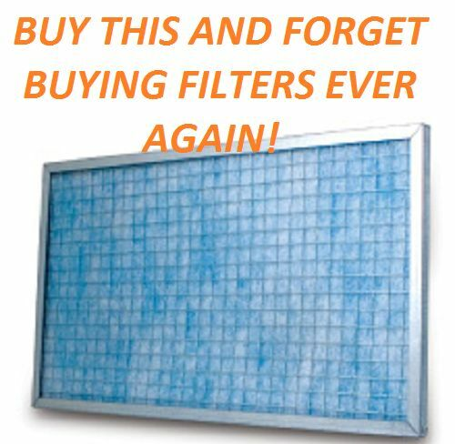 AIR FILTER HOME FURNACE AC BEST VALUE PERMANENT WASHABLE ELECTROSTATIC SAVE!