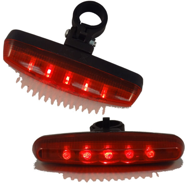 New Cycling Bike 5 LED Bicycle Red Tail Light 7 Modes Rear Flashing Lamp Safety $6.05