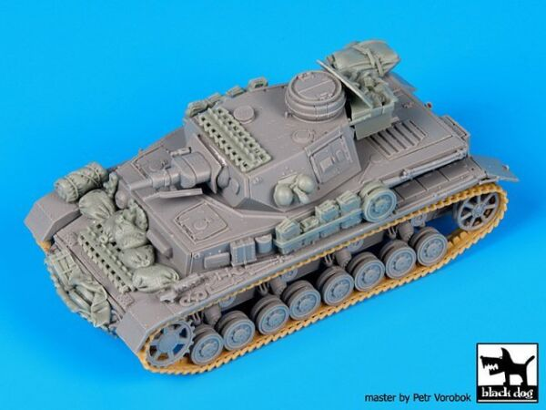 Black Dog 1 72 Panzer IV Ausf.F1 Tank Accessories Set WWII for Dragon T72075 $22.61