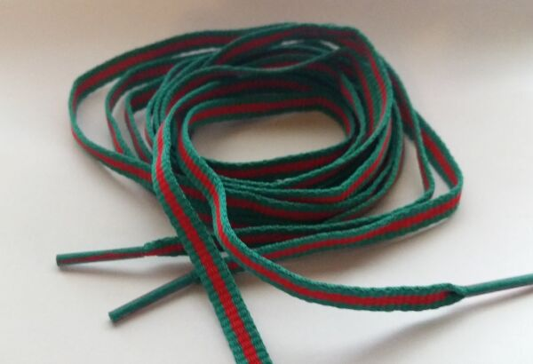 Limited Edition* 55quot; LUXURY RED AND GREEN FLAT LACES STRIPE SHOELACE SB XI $12.99