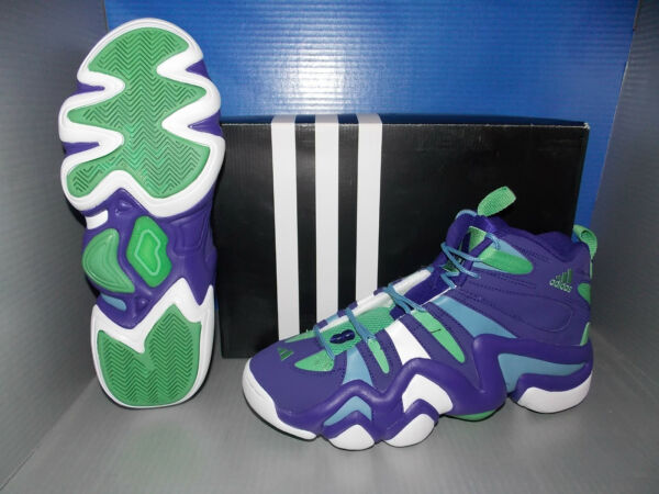 MENS ADIDAS CRAZY 8 in colors PURPLE / WHITE / BLUE SIZE 9