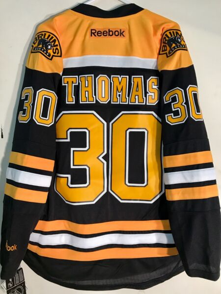 Reebok Premier NHL Jersey Boston Bruins Tim Thomas Black sz L