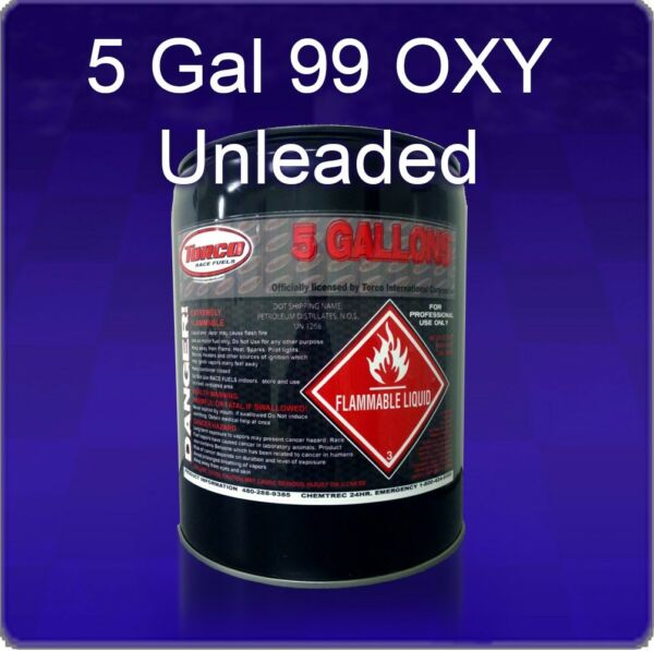 Torco 99 OXY UL Race Fuel  5 Gal.  Pail   High Octane Fuel  Unleaded Race Fuel