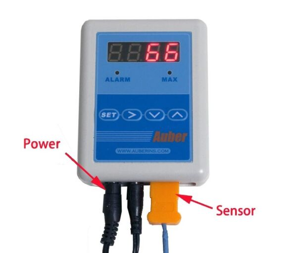 Thermometer for Outdoor Wood Boiler with High Temperature Alarm
