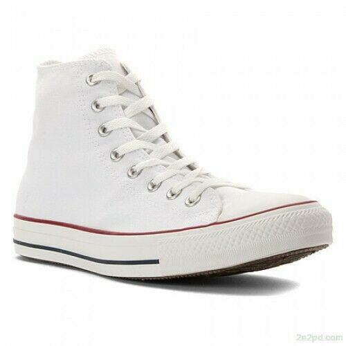 Men's/Women's CONVERSE M7650 HI Top White Chuck Taylor ALL STAR Casual Shoes NEW