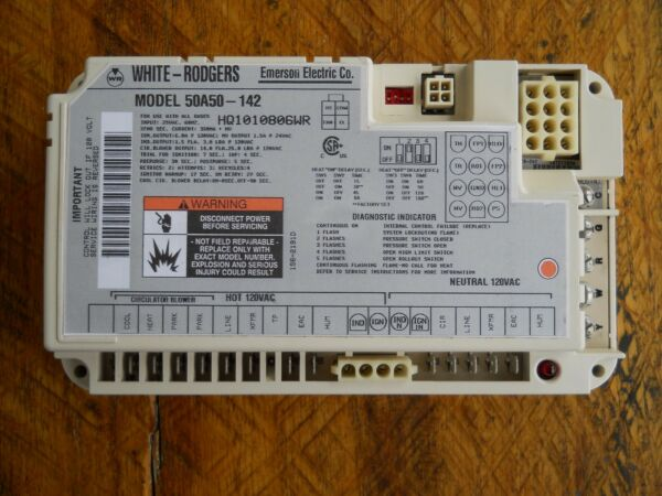 New OEM White Rodgers Furnace Fan Control Circuit Board 50A50-142