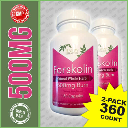 2Pk Extreme 500 MG PURE Forskolin Forskohlii Coleus Extract Weight Loss 360 Caps