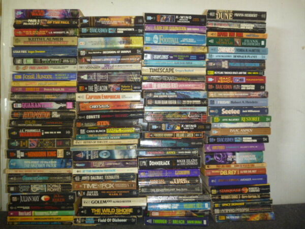Lot of 20 Science Fiction Vintage Rare Asimov Book Paperback SCI-FI MIX UNSORTED