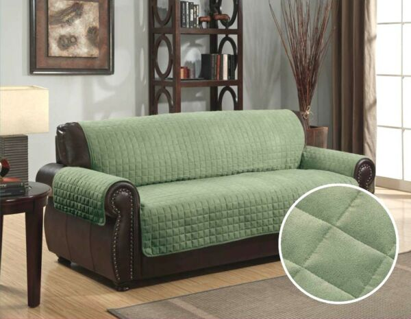 QUILTED MICRO SUEDE PET DOG COUCH SOFA FURNITURE PROTECTOR COVER KASHI SAGE $26.99
