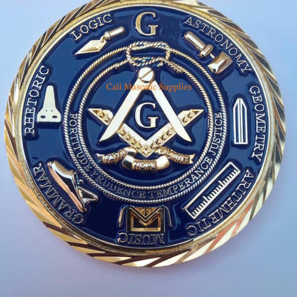 Freemasons Masonic 2quot; Challenge Coin Golden 3D Design With Case Nice Mason Gift $11.99