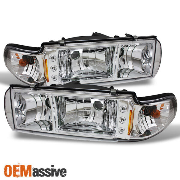 Fit 91-96 Chevy Impala Caprice 1PC LED HeadlightsCorner Signal Lamps Left+Right