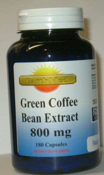 Green Coffee Bean Extract Chlorogenic Acid 800mg Weight Loss 180 Capsules