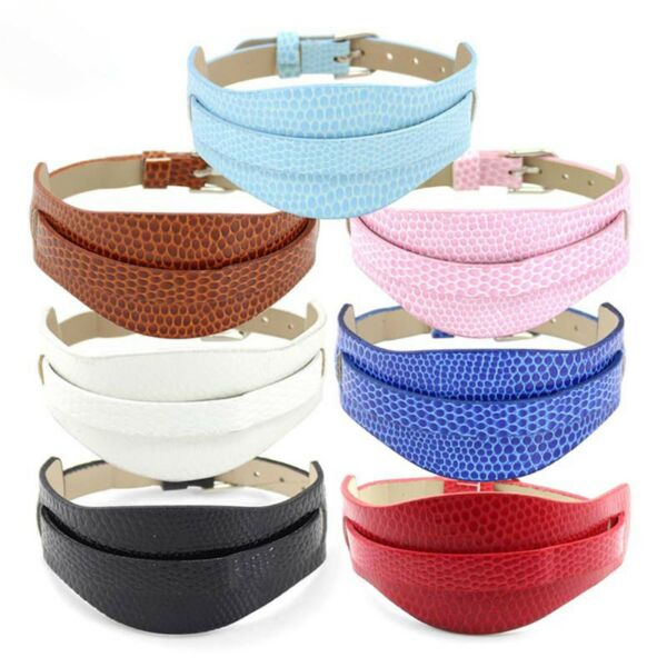10 Mixed Color Faux Leather Bracelet Charm Wristband DIY Fit 8mm Slide Charms $5.99