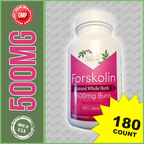 Extreme 500 MG PURE Forskolin Forskohlii Coleus Extract Weight Control 180 Caps
