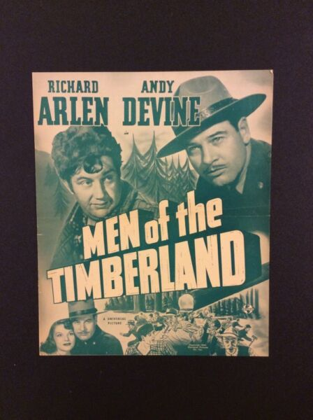 MEN OF THE TIMBERLAND Original Vintage Publicity Pressbook 1941 Universal Movie $45.00