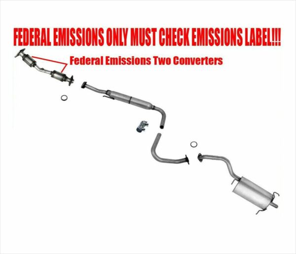New Exhaust System for Nissan Sentra with Federal Emission 2007 2012 2.0L
