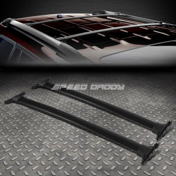 FOR 08 13 TOYOTA HIGHLANDER BLACK ALUMINUM OE STYLE ROOF RACK RAIL TOP CROSS BAR $47.58