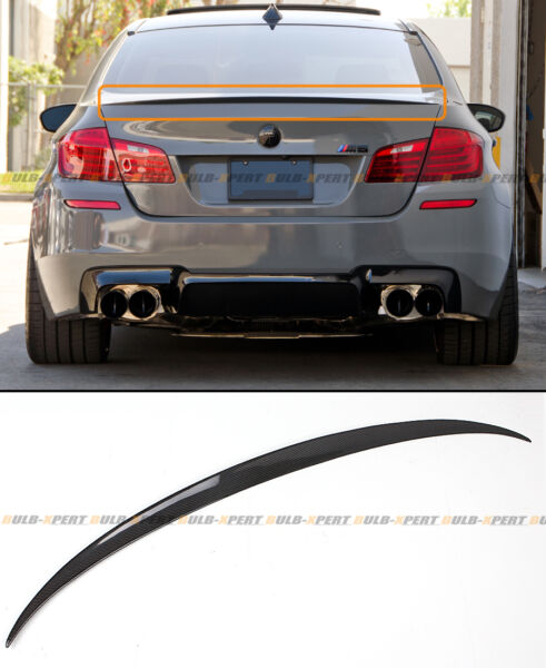 For 11-16 BMW F10 5 Series 535i 528i Carbon Fiber M5 OE Style Trunk Spoiler Wing