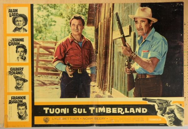 ALAN LADD GUNS OF THE TIMBERLAND ORIGINAL PHOTOBUSTA MOVIE POSTER ADVENTURE $10.00