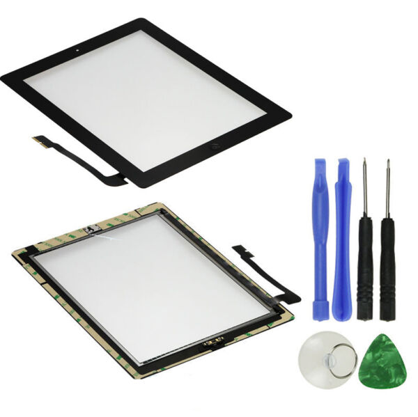 OEM SPEC Black Touch Screen Glass Digitizer iPad 3 Home Button Assembly Adhesive $9.29