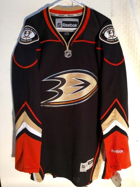 Reebok Premier NHL Jersey Anaheim Ducks Team Black sz M
