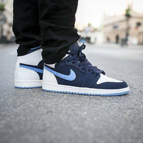 NIKE AIR JORDAN 1 RETRO HIGH MIDNIGHT NAVY UNIVERSITY BLUE 332550 402 OG 10.5-12