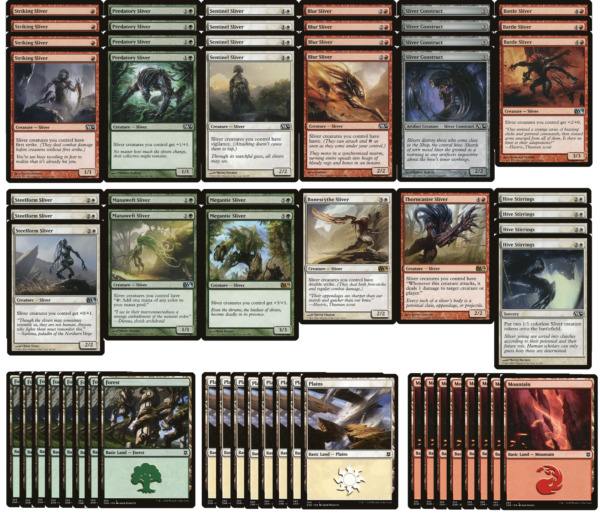 Sliver Deck Very Powerful MTG Magic the Gathering Ready to Play