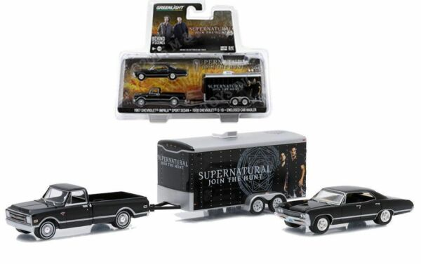 GREENLIGHT CHEVROLET SUPERNATURAL JOIN THE HUNT TRUCK amp; TRAILER 1 64 SCALE 51006 $25.99
