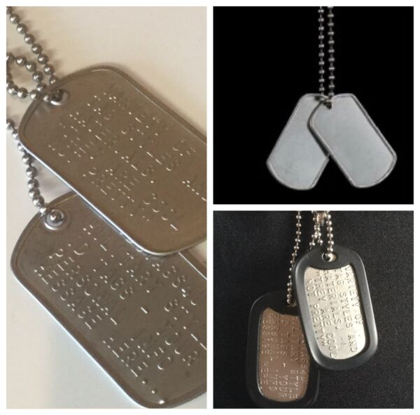 Military ID Stainless Dog Tags Custom US Army Personalised FREE incl. Track Post AU $14.45