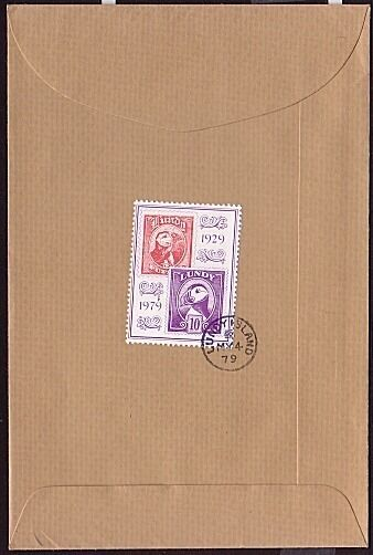 GB LUNDY 1979 10p 50th Anniv on cover to Oxford...........................32401