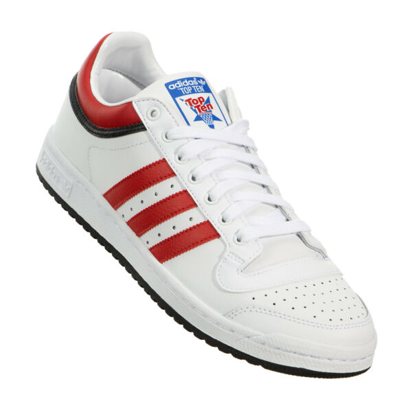 Adidas Originals Top Ten Low Classic Men's Shoes White Red Black C77110 NEW