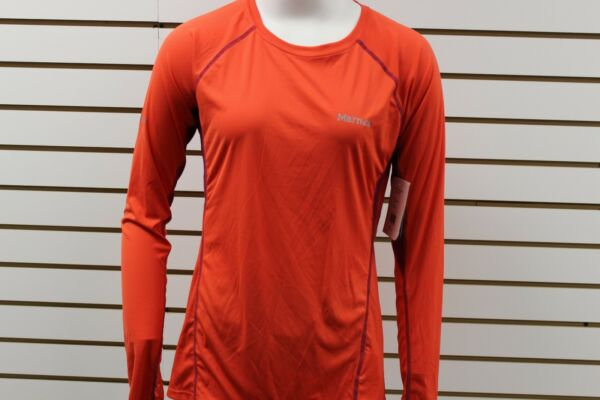 Women's Marmot Frequency Long Sleeve Red Apple 55100 Brand New With Tag